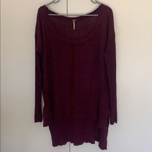 WOMENS FREE PEOPLE LONG SLEEVE OVERSIZED SHIRT M